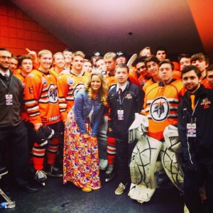 singing national anthem for Jr. Lancers in USA Hockey Championships