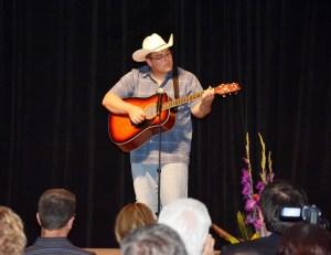 performer AJ Taylor at gala
