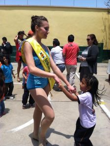 dancing with children from a peruvian orphanage