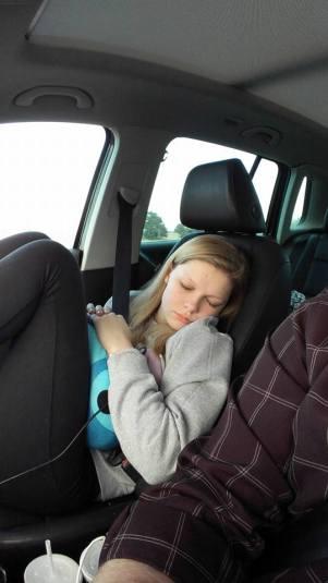 Hannah sleeping